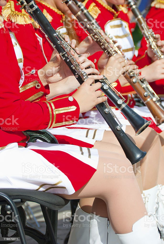 Girl Brass Band royalty-free stock photo