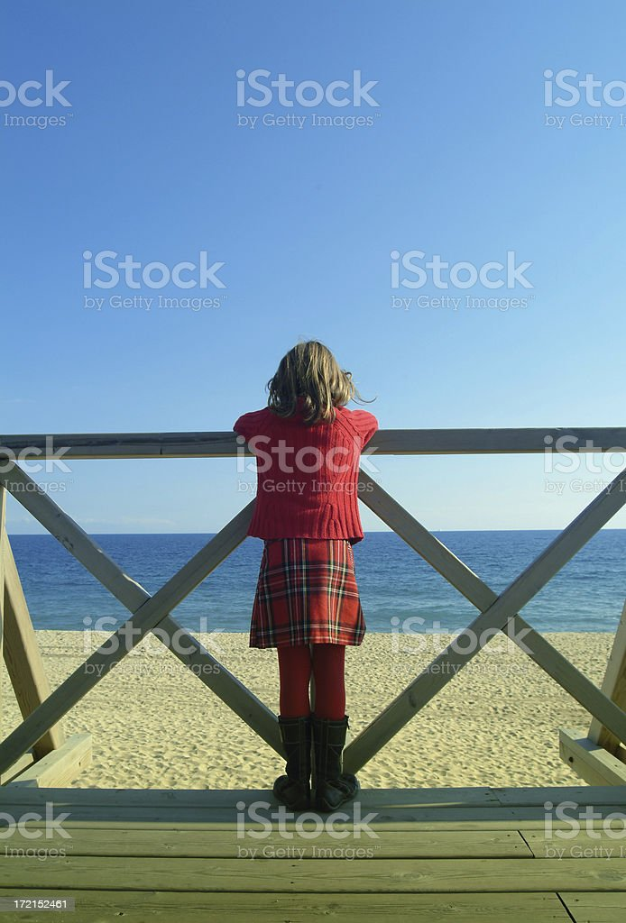 girl by the sea royalty-free stock photo