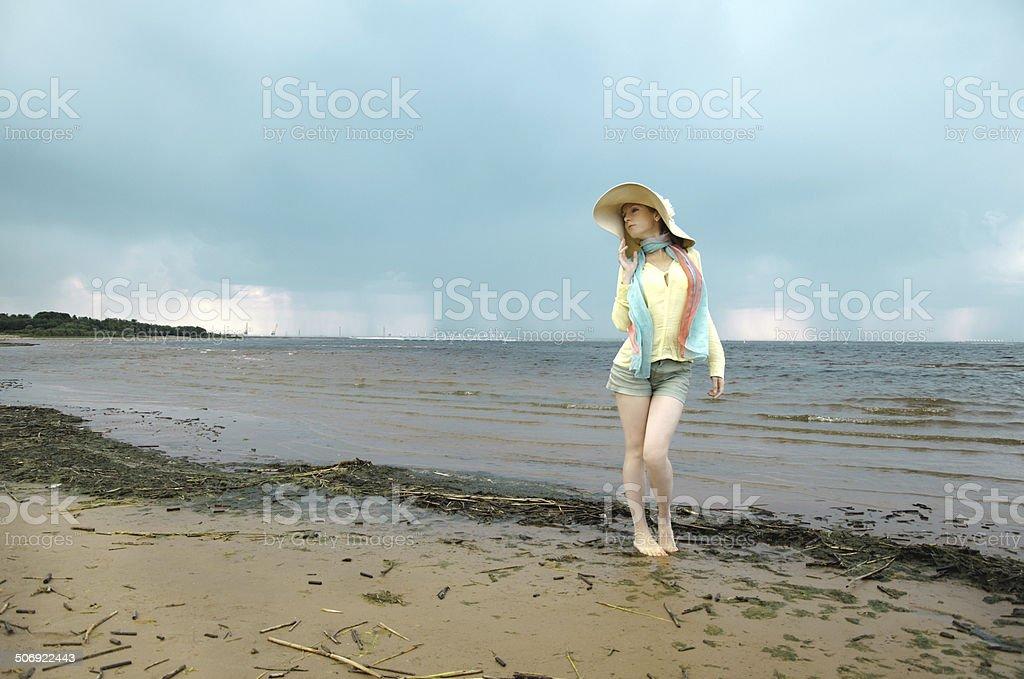 Menina do mar foto de stock royalty-free