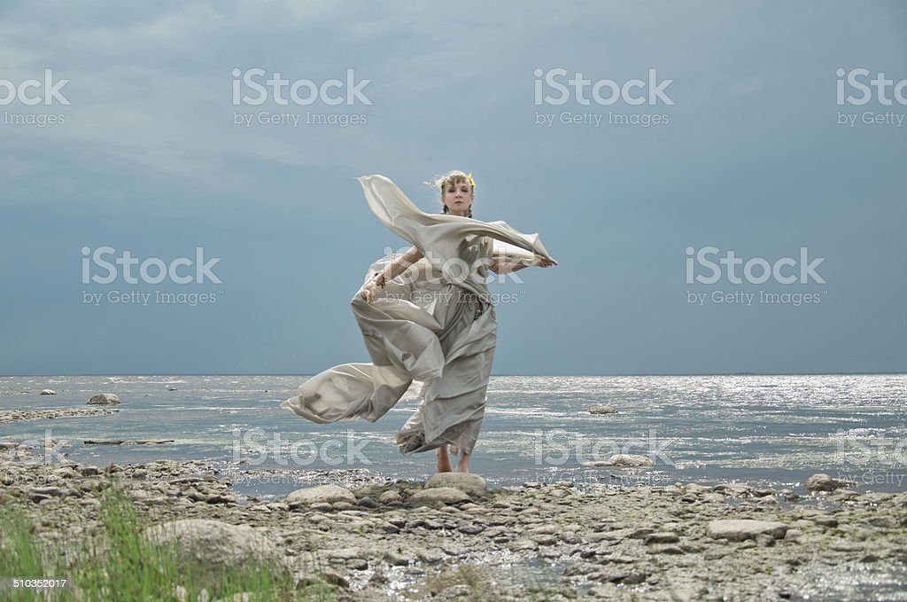 Menina do mar foto de stock royalty-free