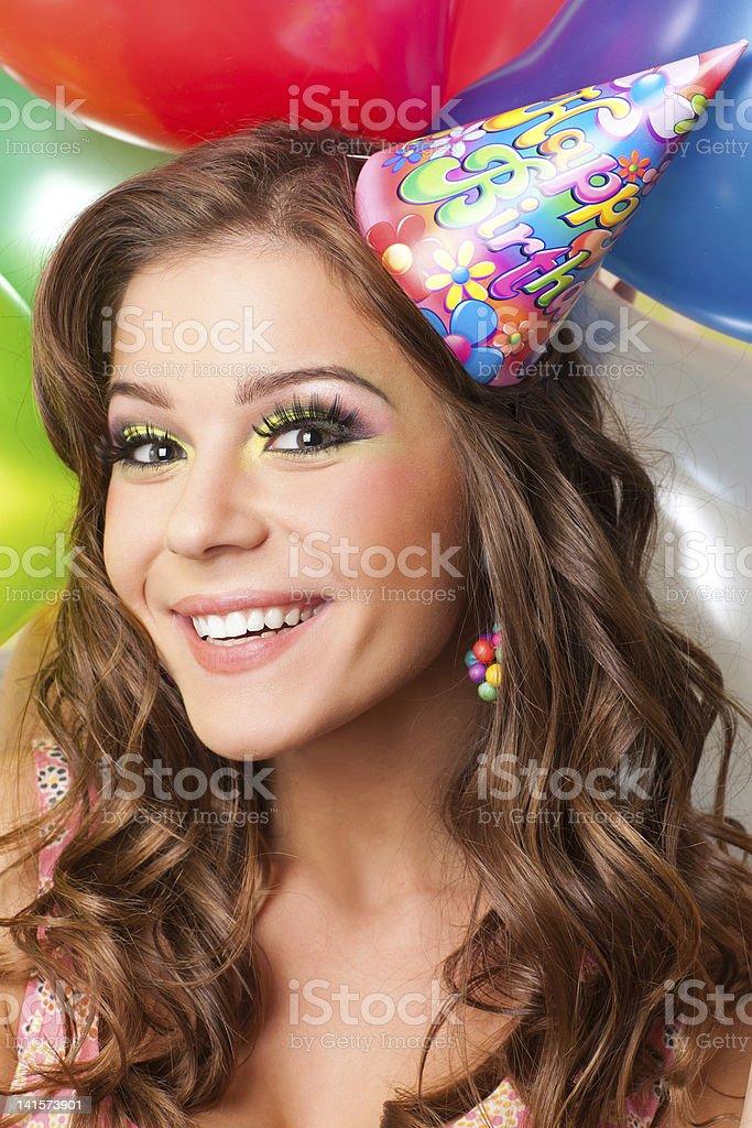 Fille fête anniversaire photo libre de droits