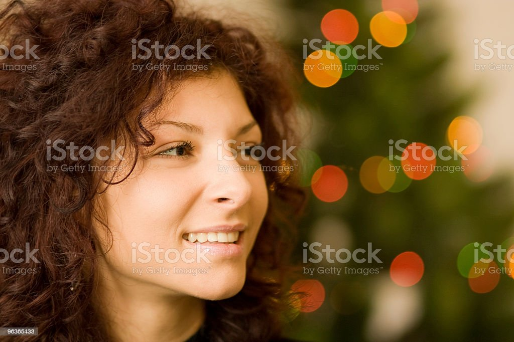 Girl Celebrating Christmas stock photo