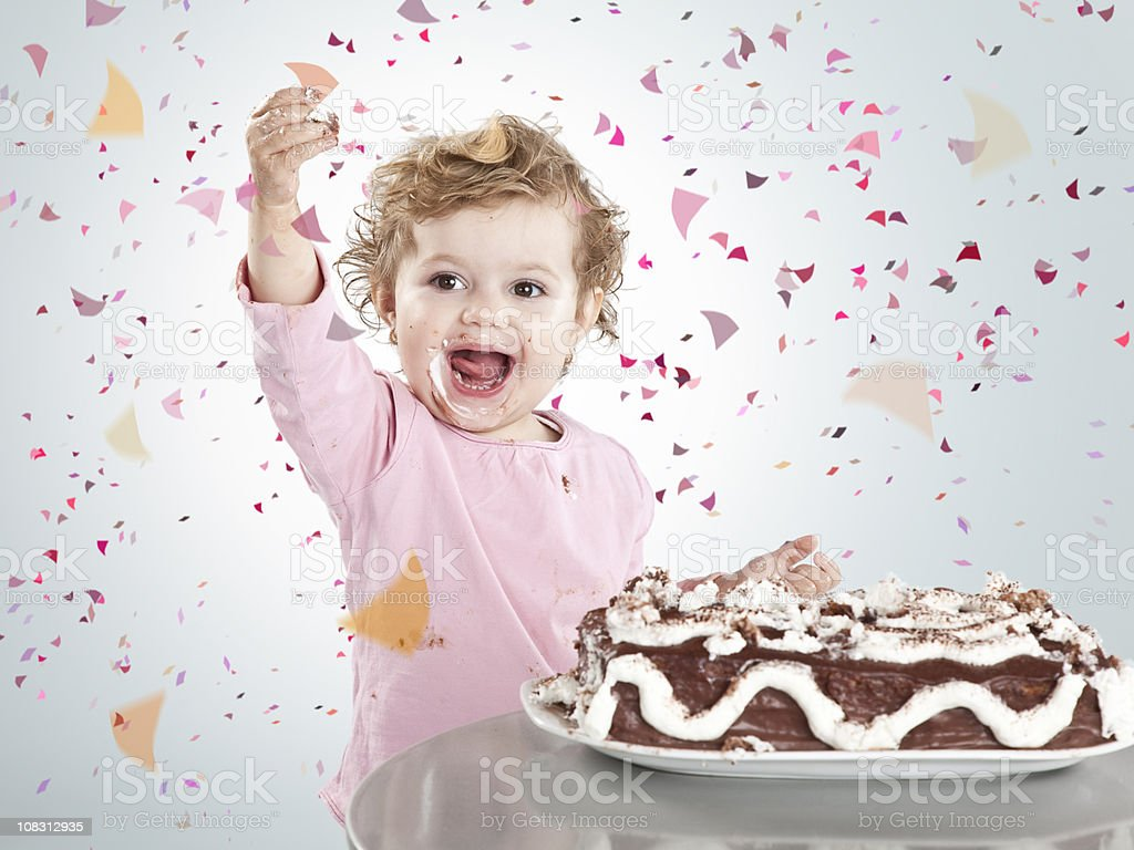 Girl celebrating royalty-free stock photo