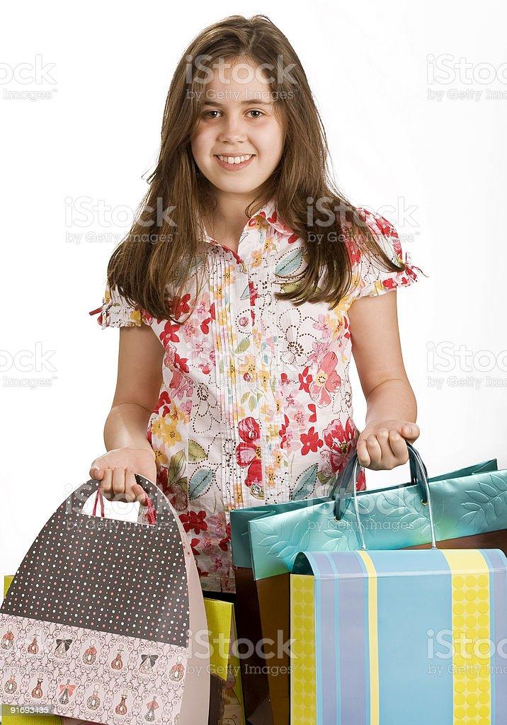 Девочка рождественские покупки Стоковые фото Стоковая фотография