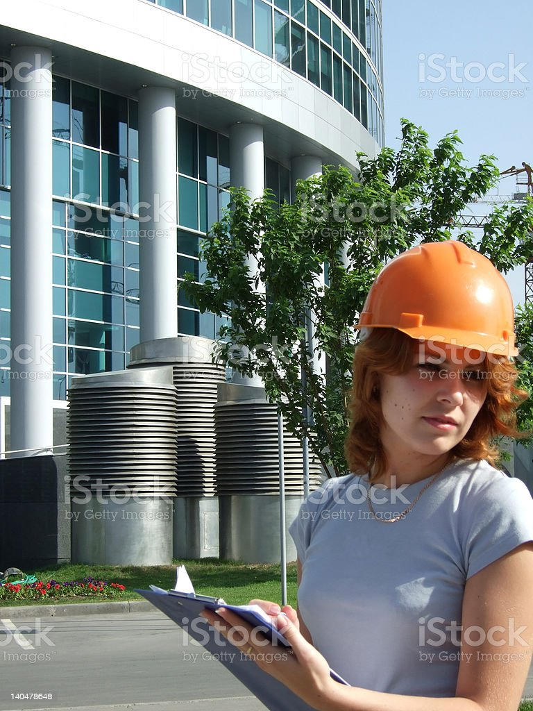 girl constructor royalty-free stock photo