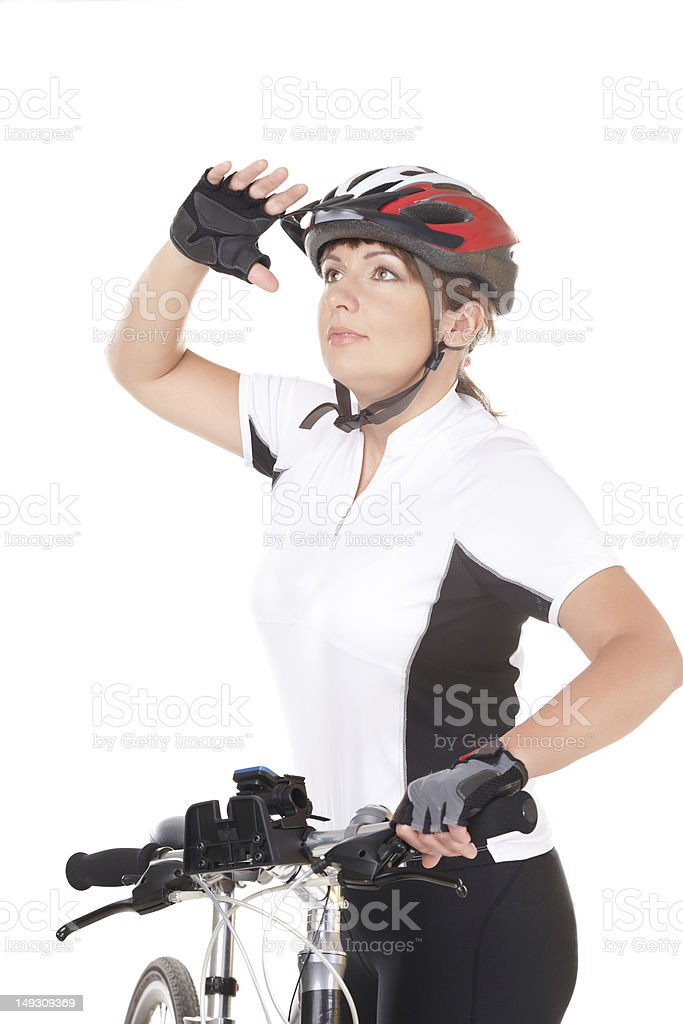 Girl Cyclist royalty-free stock photo