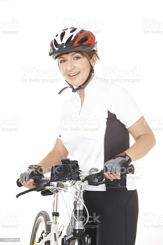 Girl Cyclist royalty-free stock photo