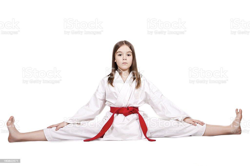 Girl doing the splits royalty-free stock photo