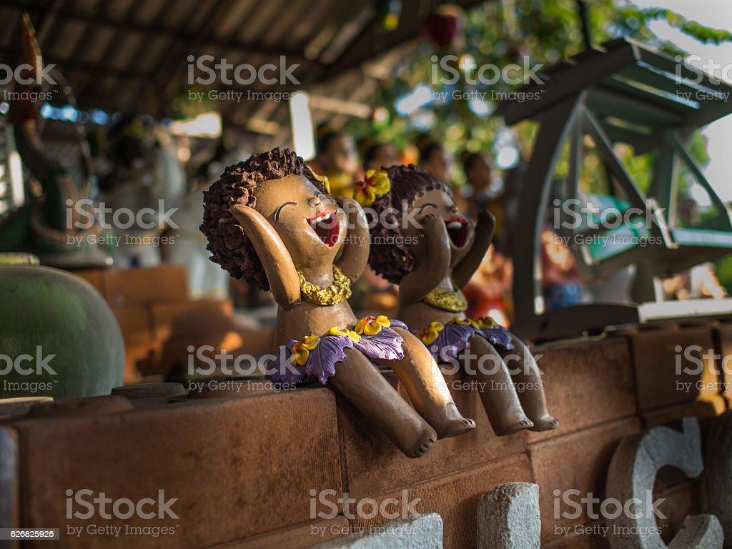 Girl Doll Islanders Laugh stock photo