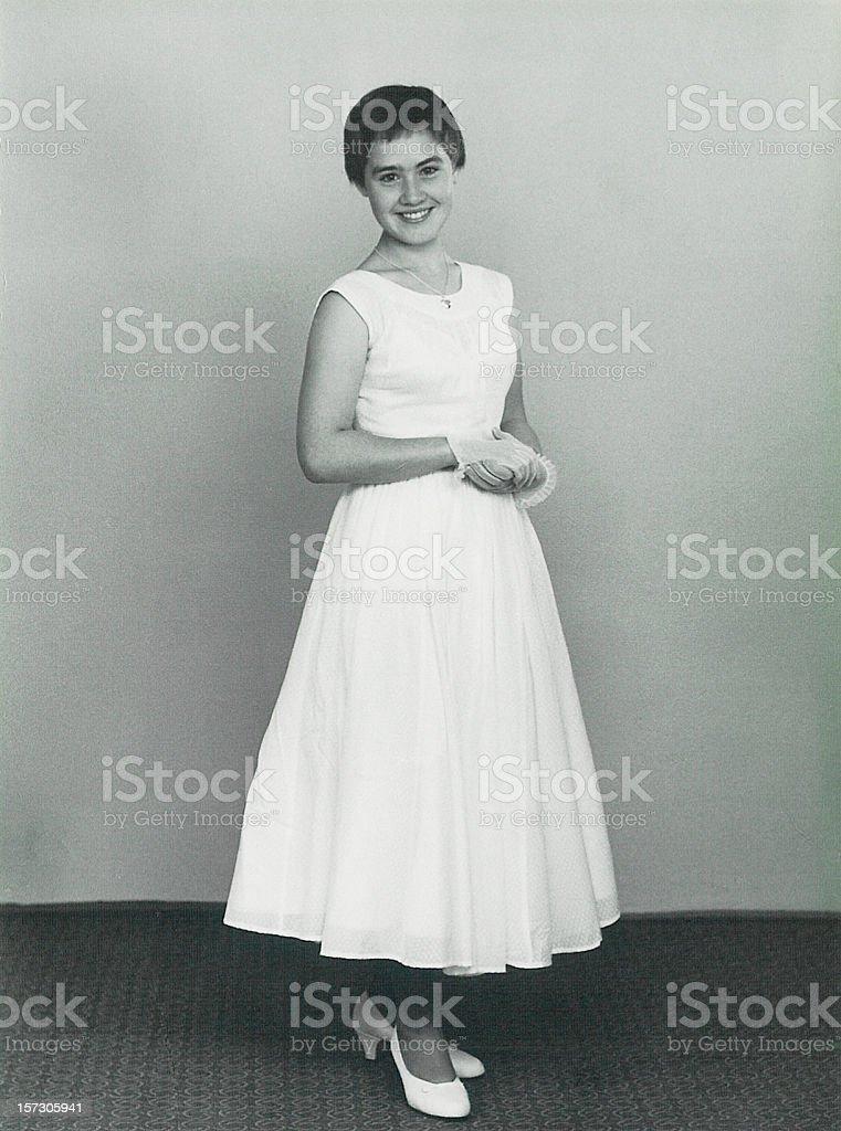Girl dressed up stock photo