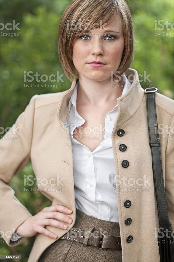 Girl dressed with coat royalty-free stock photo