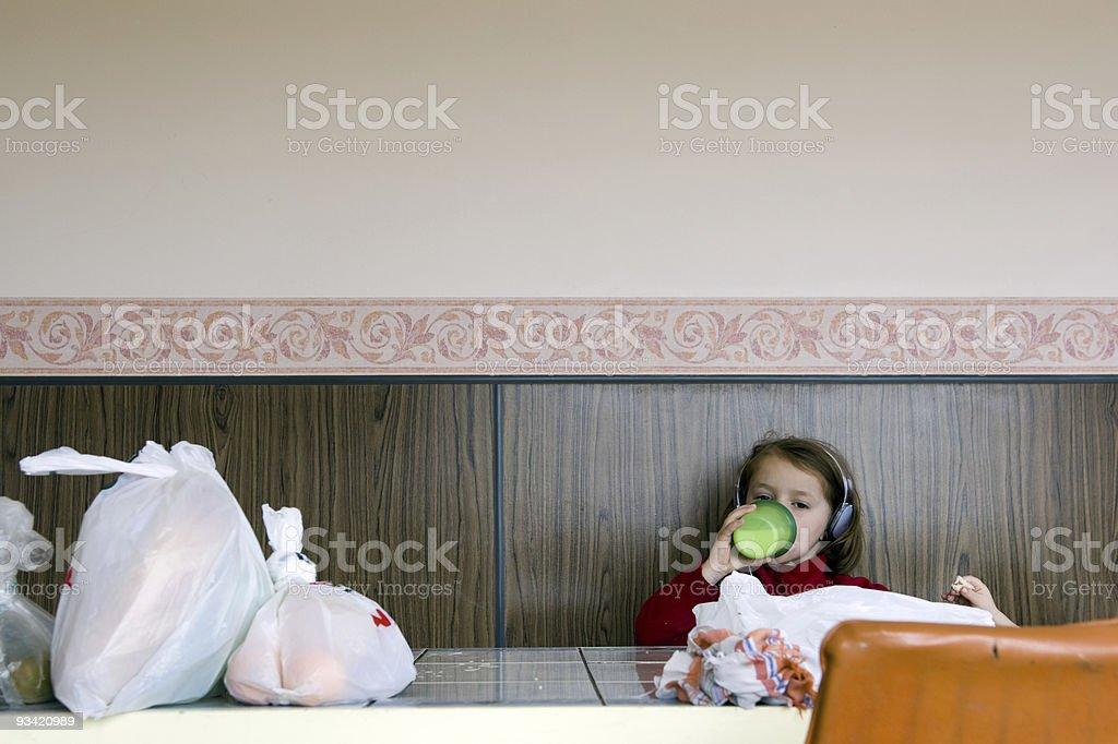 Girl drinking Milk royalty-free stock photo