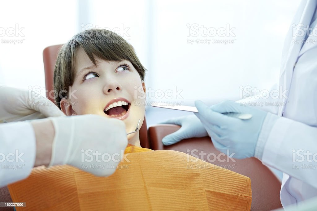 Girl during checkup royalty-free stock photo