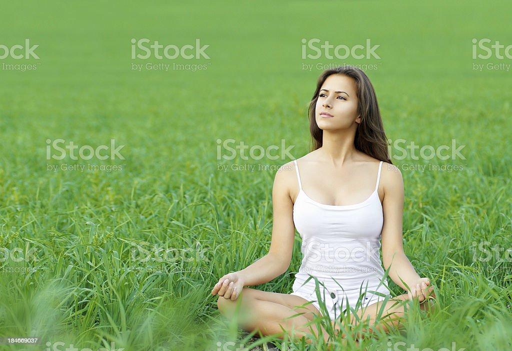 girl enjoying summer royalty-free stock photo
