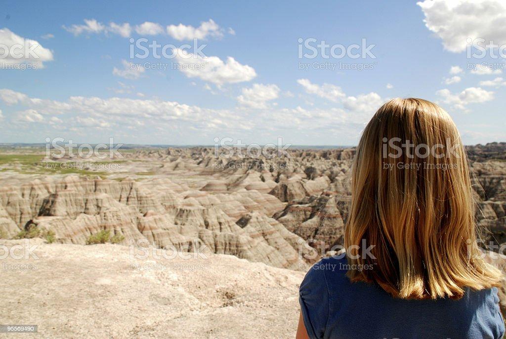 Girl Enjoying the View royalty-free stock photo