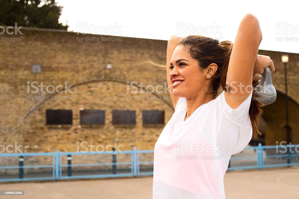 girl exercise royalty-free stock photo