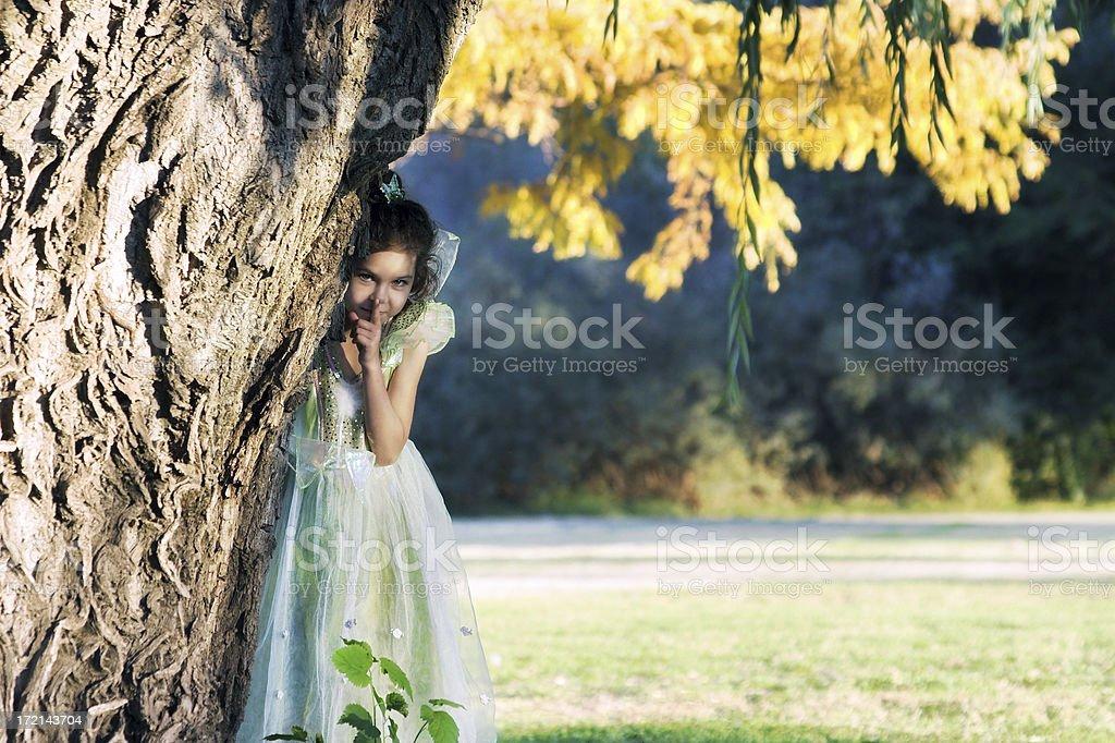 Girl Fairy in Hiding royalty-free stock photo