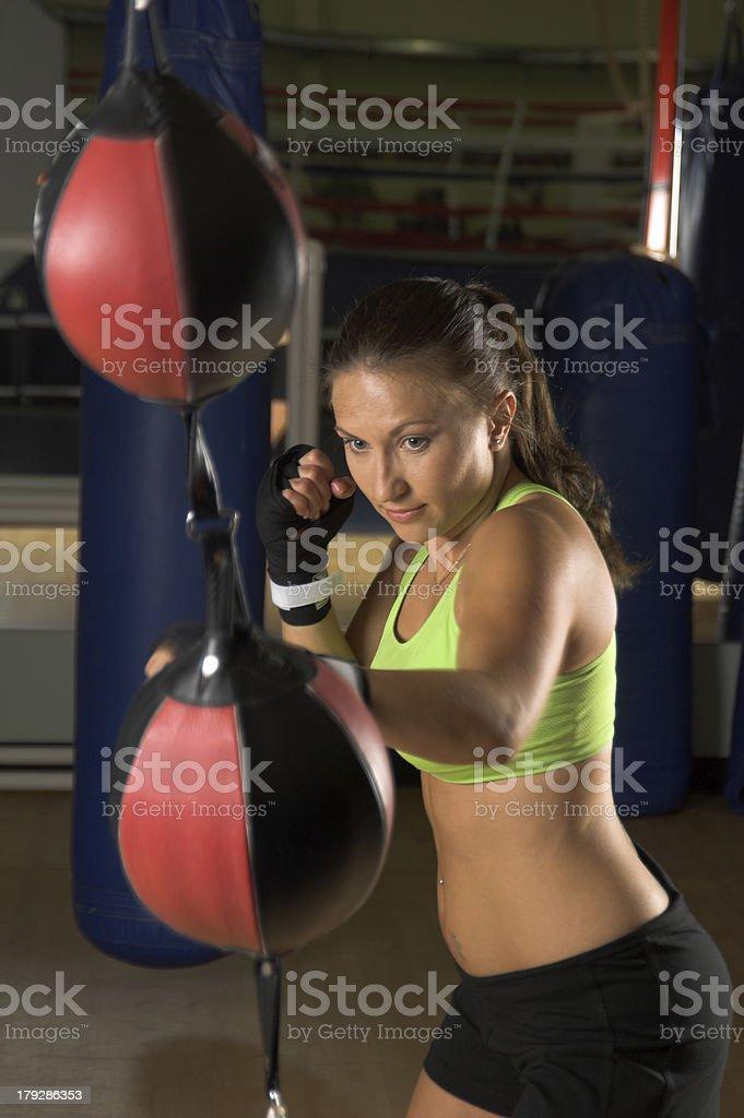Girl Fighter Training stock photo
