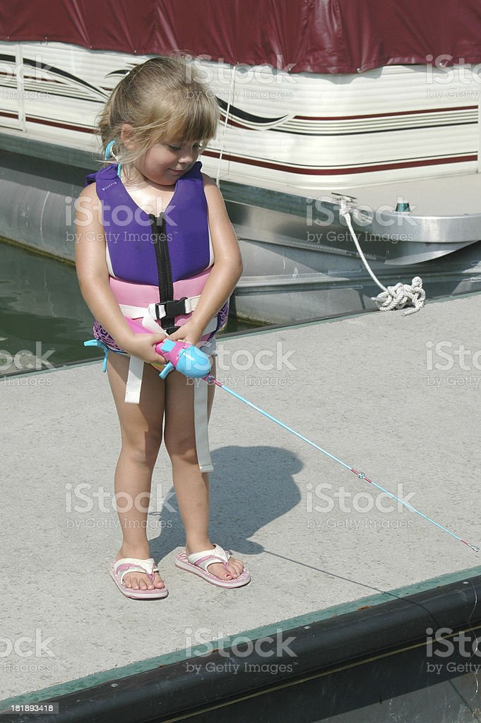 Girl Fishing royalty-free stock photo