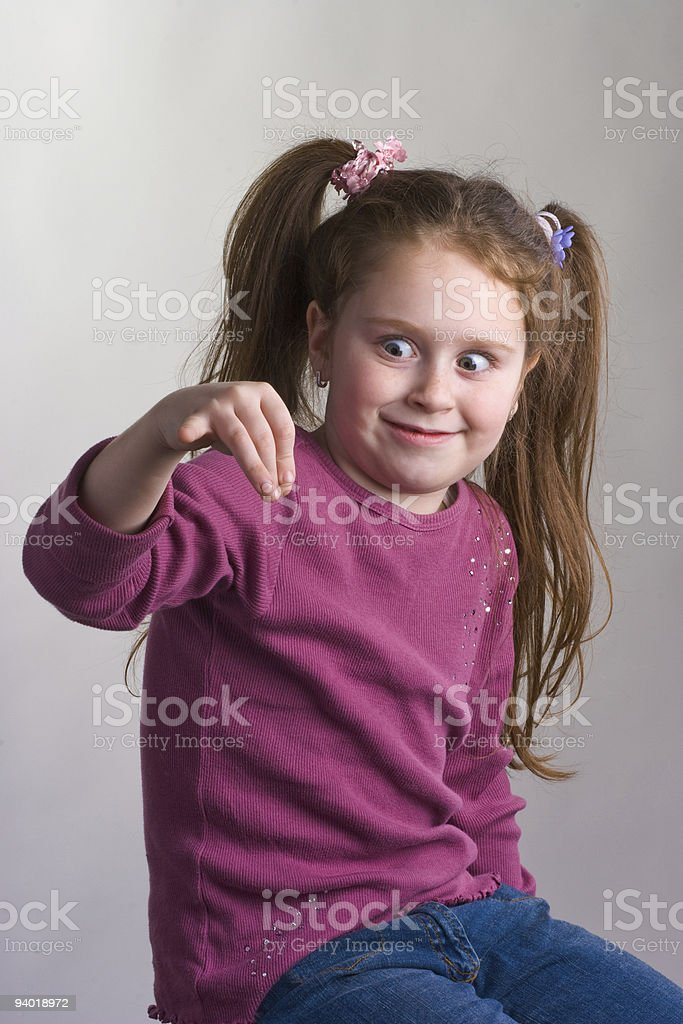 Girl for product placement stock photo