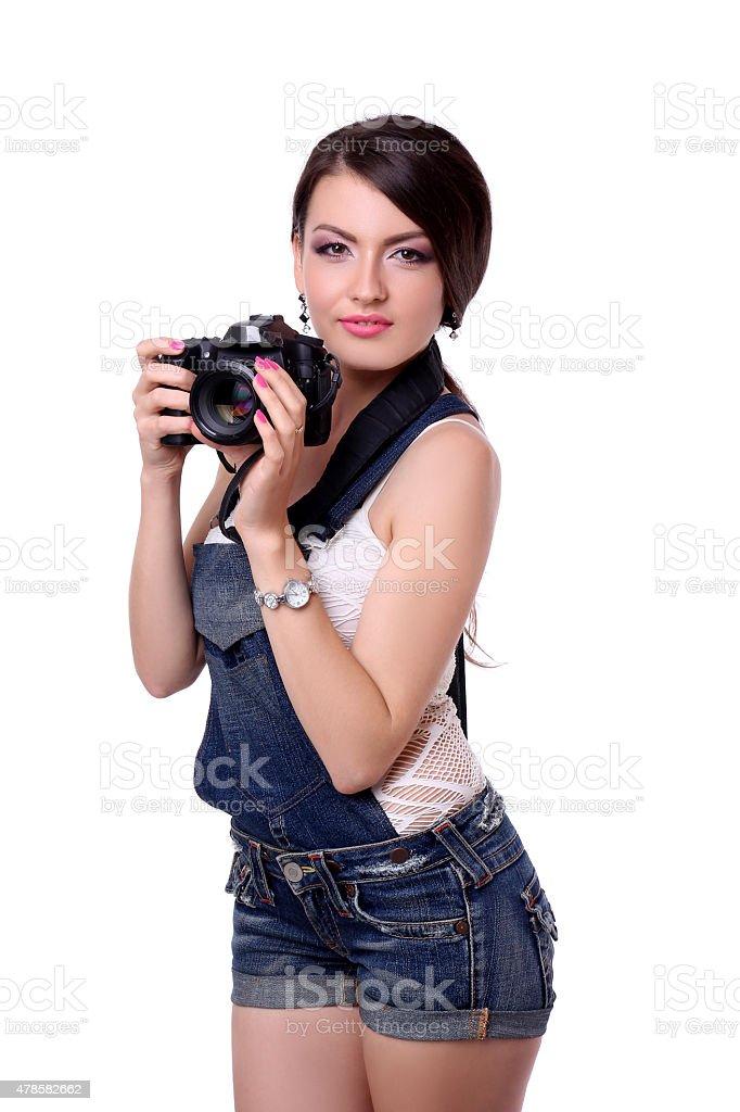 Girl fotogray concept royalty-free stock photo