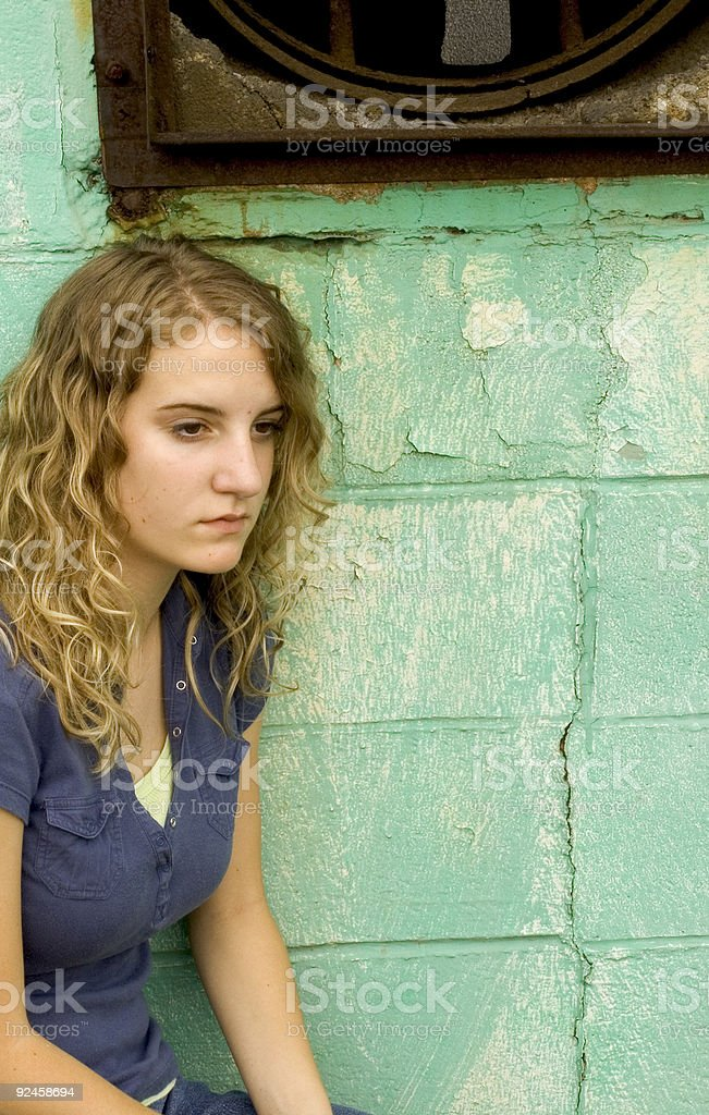 girl four (intense thought) royalty-free stock photo