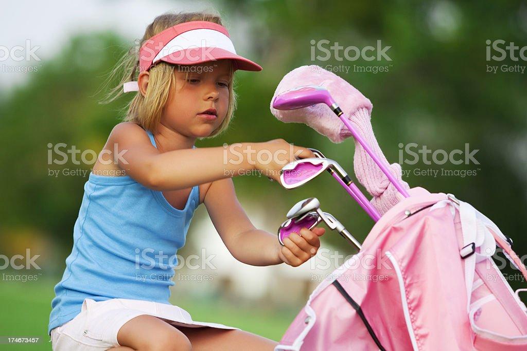 Girl & Golf royalty-free stock photo