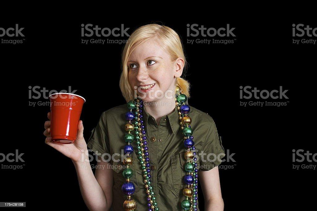 girl gone drinking stock photo