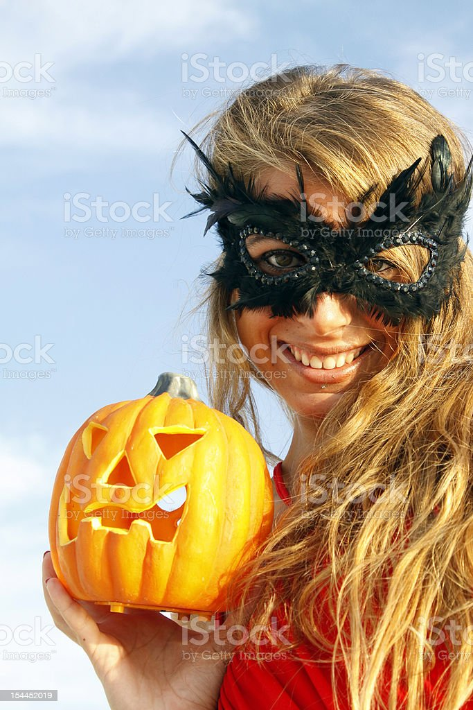 girl halloween stock photo