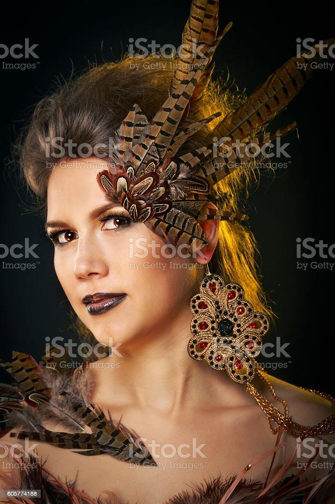 Girl harpy. stock photo