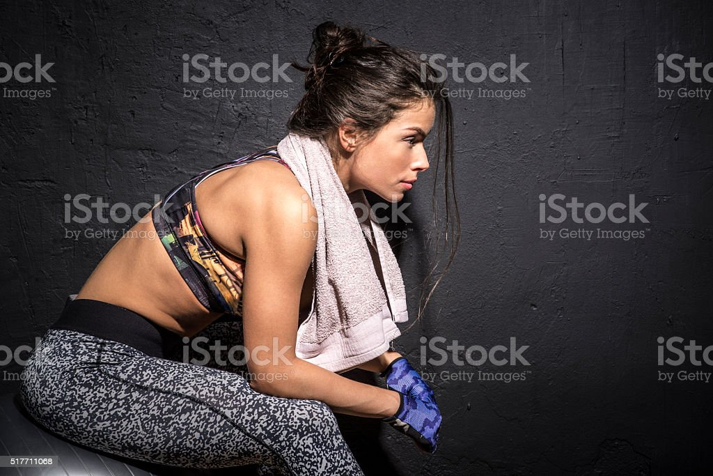 Girl having a break stock photo