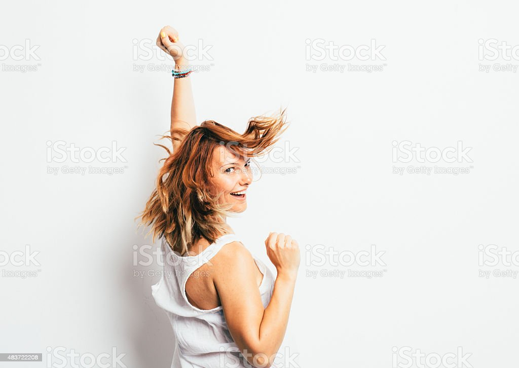 girl having fun stock photo