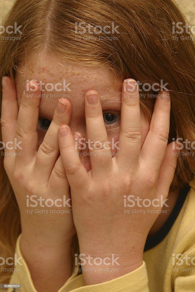 Girl Hiding royalty-free stock photo