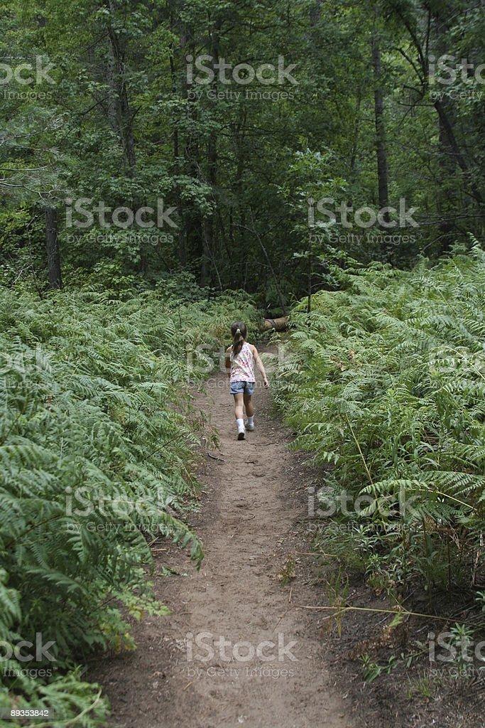 Dziewczyna piesze zbiór zdjęć royalty-free