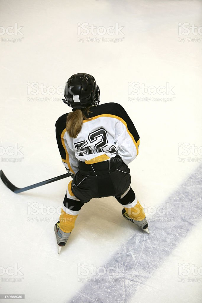 girl hockey player top view royalty-free stock photo