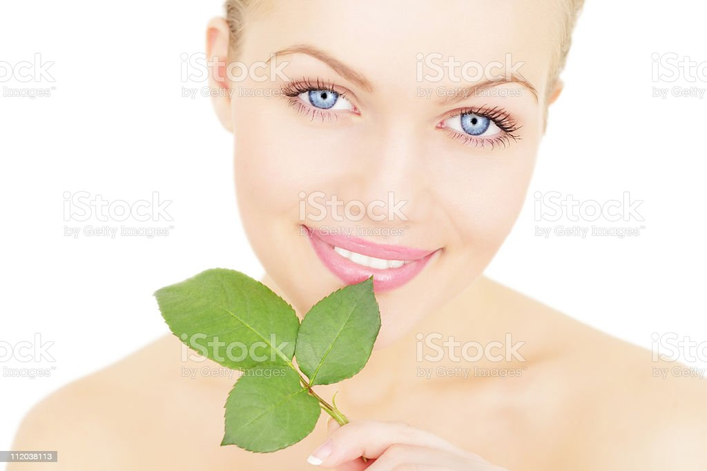 girl holding a twig royalty-free stock photo