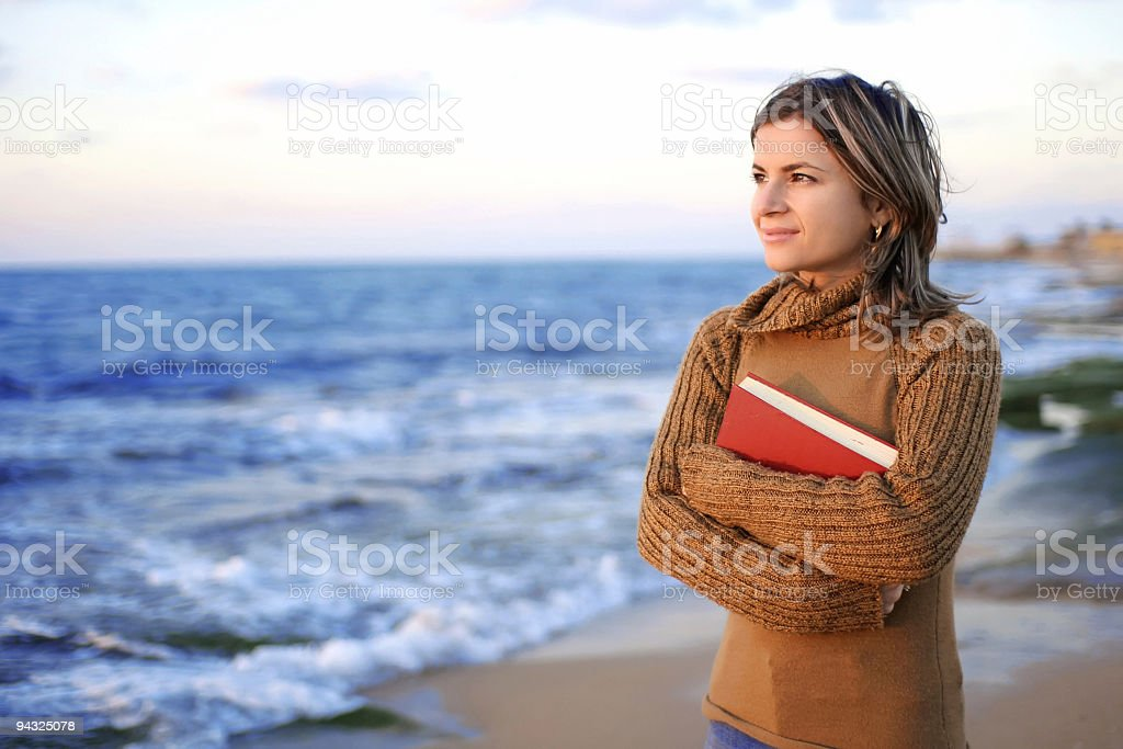 girl holding book royalty-free stock photo
