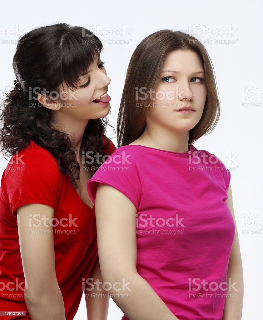 Girl hurt his  friend royalty-free stock photo