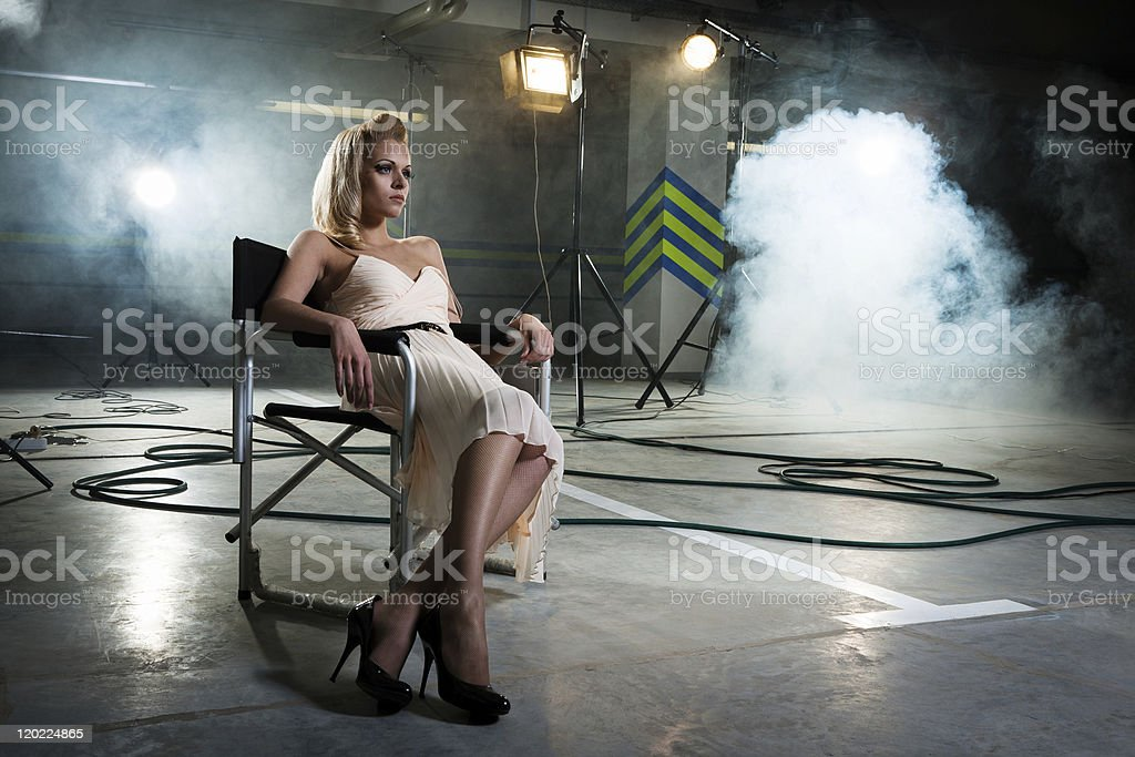girl in a chair royalty-free stock photo