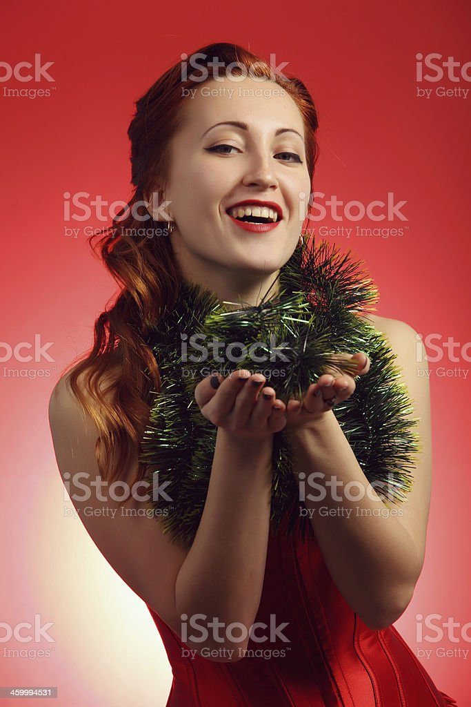 Mädchen in Weihnachten Lizenzfreies stock-foto