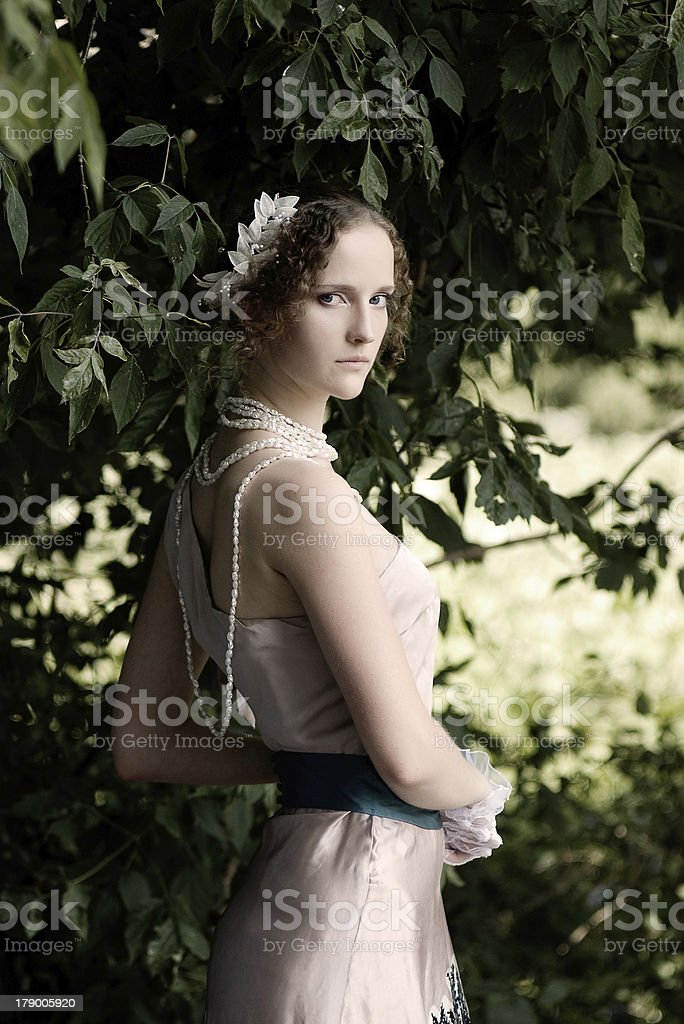 girl in a dress royalty-free stock photo