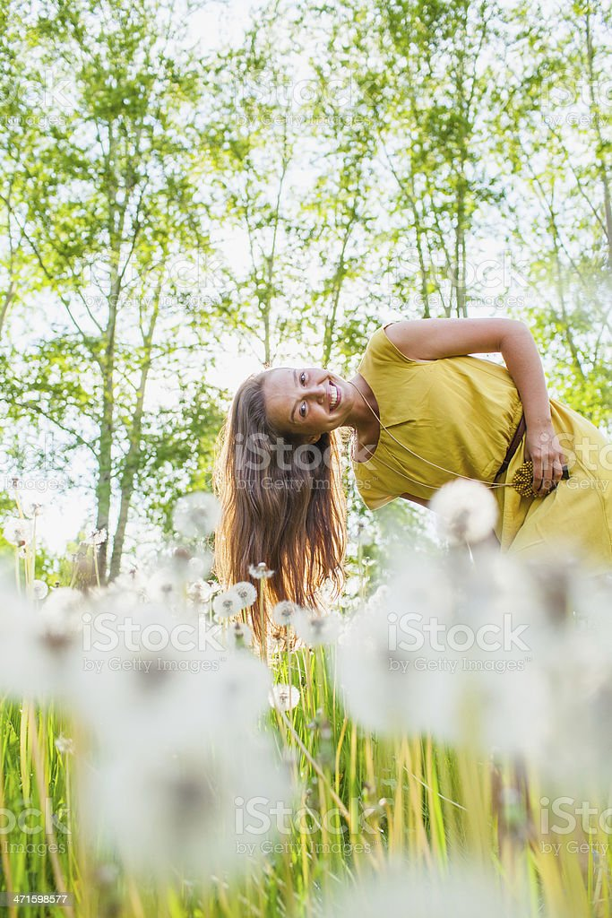 girl in a meadow royalty-free stock photo