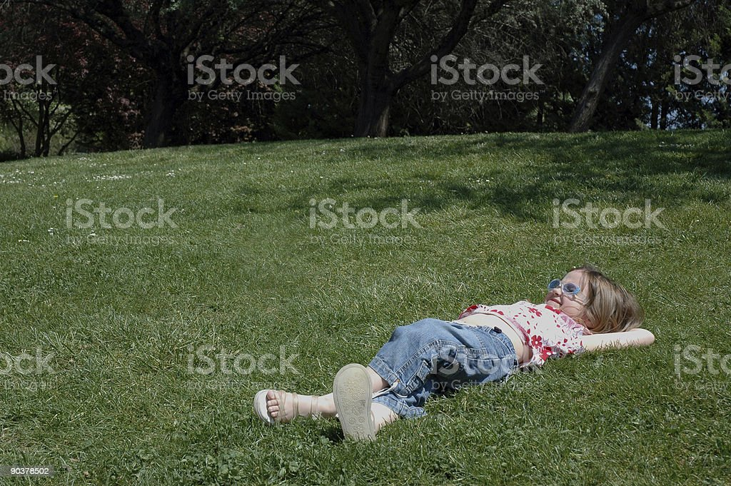 Girl In A Park stock photo