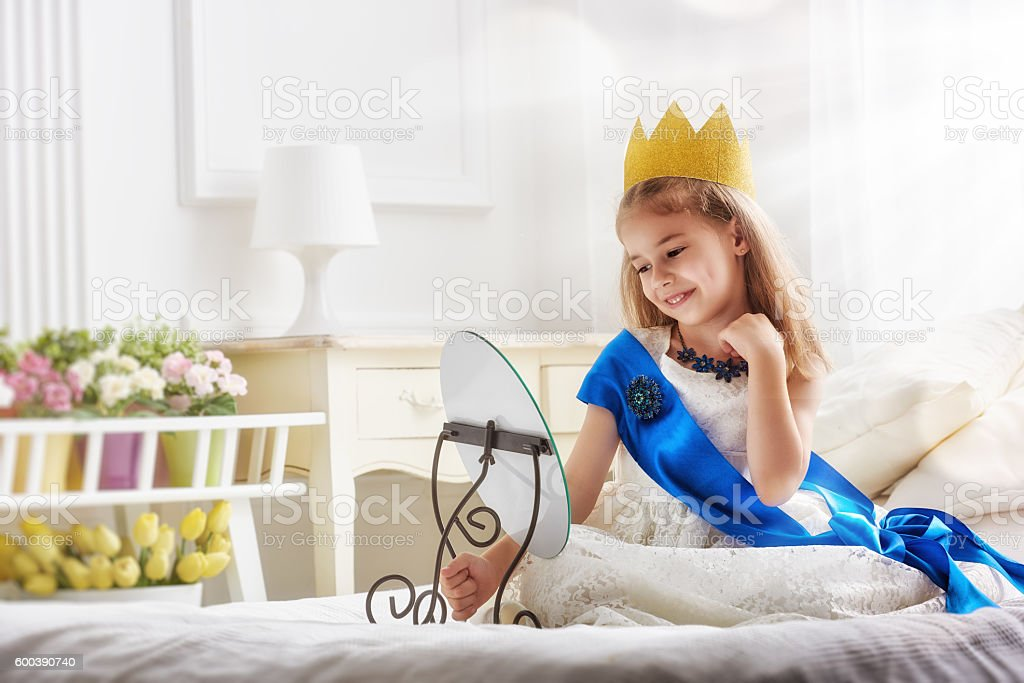 girl in a princess costume stock photo