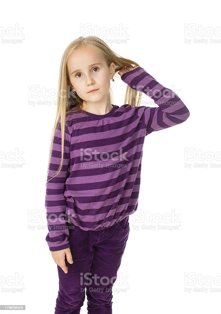 girl in a purple dress royalty-free stock photo