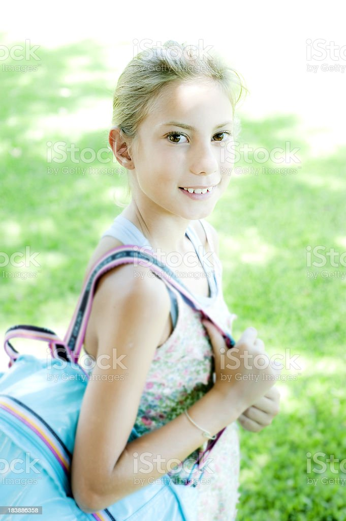 Girl in a Summer Cam. royalty-free stock photo