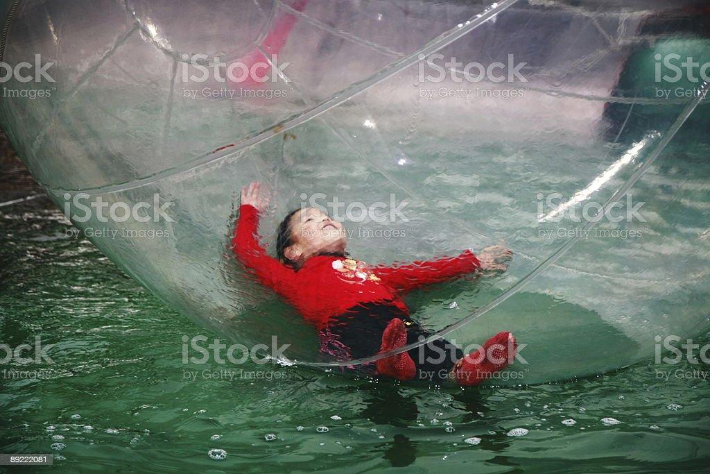 Girl in Balloon royalty-free stock photo