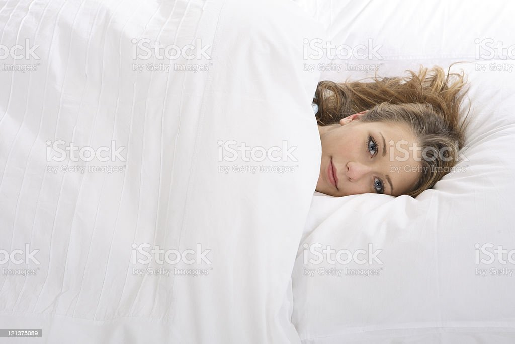 Girl in Bed royalty-free stock photo
