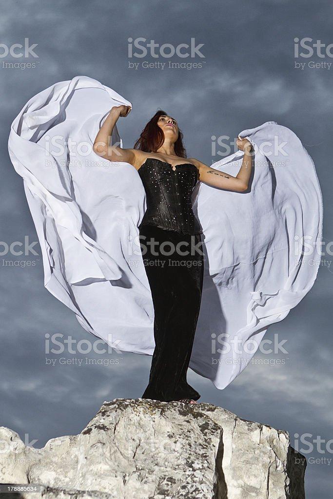 girl in  black dress royalty-free stock photo