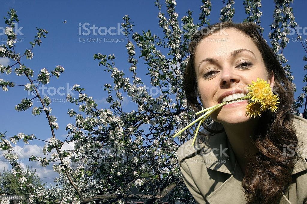 Girl in blossom 04 royalty-free stock photo